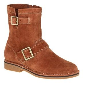 NEW Cognac 100% Suede Leather Hush Puppies Boots!